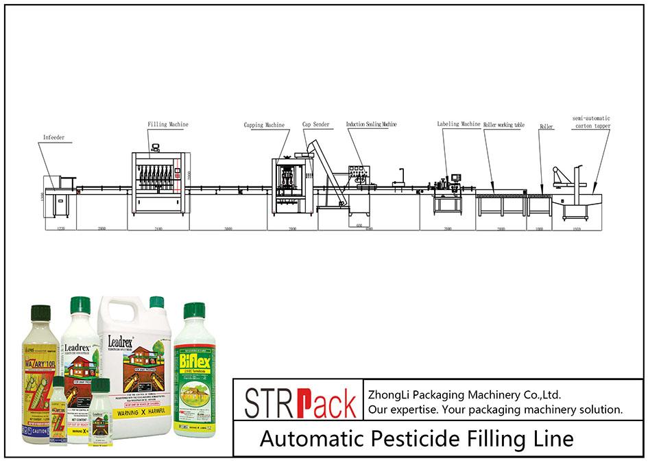 Pleniga Linio de Aŭtomataj Pesticidoj